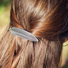 barrette clip hair clip barrette hair accessory feather 70mm oberon design