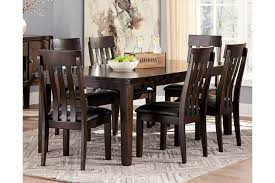 Dark Dining Room Table Haddigan Dining Room Table Ashley Furniture Homestore