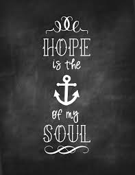 Love Anchors The Soul Print - chalkboard archives mine for the making