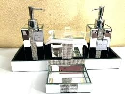 mirrored bathroom accessories mirrored bathroom tray akapello com