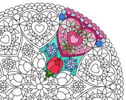 christmas mandala coloring page night lights printable