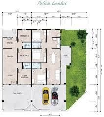 single floor house plans single story bungalow house plans malaysia house plan