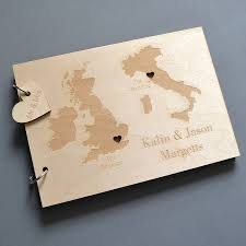 personalised wedding guest book personalised duo destination map guest book clouds and currents