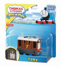amazon fisher price thomas train play toby toy