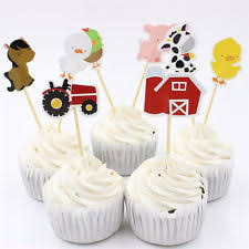 Barn Animal Party Supplies Animals Cupcake Pick Party Supply Cake Toppers Ebay
