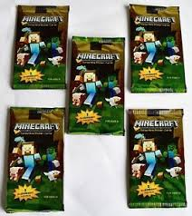 minecraft cards new 5 x sealed packs minecraft collectible sticker cards new