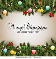Christmas Decorations With Pine Tree Branches by Christmas Tree Branch Stock Images Royalty Free Images U0026 Vectors