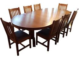 mission style dining room set mission style stickley oak dining set set of 9 chairish