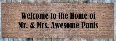 Patio Door Mat Wide Welcome To The Home Of Mr Mrs Awesome
