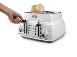 Delonghi Four Slice Toaster Delonghi Scultura Zinc White 4 Slice