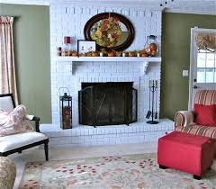 painted brick fireplace makeover how tos diy original