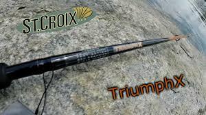 st croix ultra light st croix rods triumph x review youtube