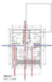 plan maison en u ouvert dessiner des plans fonctionnels conseils thermiques