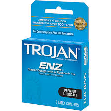 trojan enz lubricated latex condoms 3 ct walmart com
