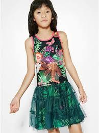 desigual girls anchorage sleevelss jersey dress llbd shop