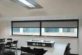 blackout roller blind installed in science classroom by albany