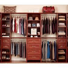 closet organizer home depot closetmaid impressions 25 in dark cherry deluxe hutch closet kit
