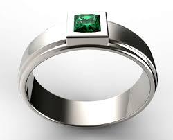 unique mens unique mens princess cut green emerald wedding ring vidar