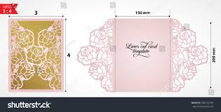 Card For Wedding Invitations Laser Cut Wedding Invitation Card Template Stock Vector 388102795