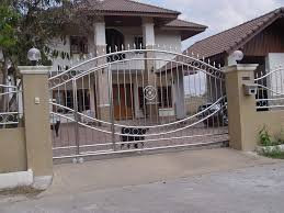 interior futuristic stainless steel home front gates decorating