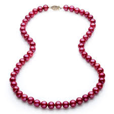 jewelry making pearl necklace images Pwk037pl 18 quot freshwater cranberry red pearl necklace 7 7 5mm aaa jpg