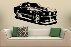 wall decals cars color the walls of your house wall decals cars wall mural decal sticker car ford mustang 1967 s 2026