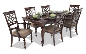 bobs furniture kitchen table set european home accents in respect of woodmark 7 dining set bobs