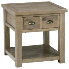 Farmhouse Side Table Jofran 2 Drawer End Table Reviews Houzz End Tables With Drawers