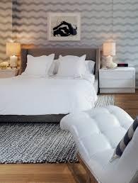 gray velvet headboard contemporary bedroom haus interior