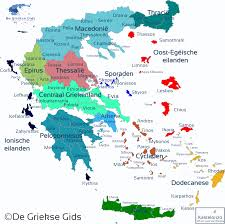 Map Of De Kaart Van Griekenland De Interactieve Griekse Landkaart