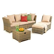 Modular Wicker Patio Furniture - tidewater 6pc wicker modular seating set pipe sizes steel