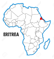 africa map eritrea eritrea outline inset into a map of africa a white background