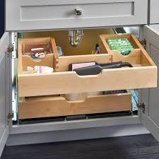 kitchen sink cabinet tray rev a shelf sink pull out drawer wayfair