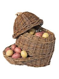 kitchen gift basket ideas countertop potato u0026 onion storage baskets set of 2 gardeners com