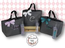 bridesmaid bags tote and tumbler set bridesmaid gifts bridesmaid bags