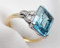 zircon engagement rings zircon cocktail ring retro era emerald cut zircon ring