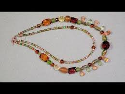 double strand beaded necklace images Multi strand necklace beginner tutorial jpg