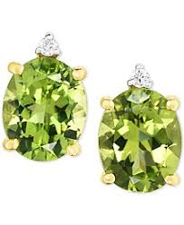 peridot stud earrings peridot earrings shop peridot earrings macy s