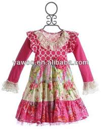 2014new style baby cotton dresses damask printed long sleeve