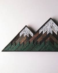 wood mountain wall wood wall wooden mountain range made to order or
