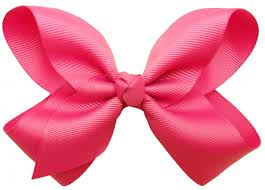 hair ribbon big hot pink hair bow with alligator clip