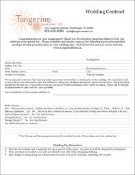 makeup contracts for weddings 9 wedding contract templates free word pdf format