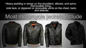 armored leather motorcycle jacket mens leather motorcycle jackets youtube