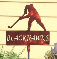 Custom Metal Signs For Home Decor by Hockey Team Yard Signs Personalized Sports Yard Decoration