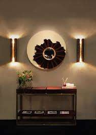 Decorating Large Walls In Living Room by Ideas For Big Hallways Using Large Wall Mirror