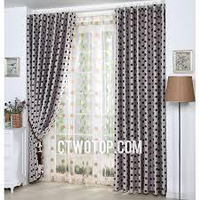 Grey And White Polka Dot Curtains Retro Blackout Brown And White Polka Dot Curtains With Lace