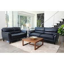 Sovana 2 Piece Top Grain Leather Living Room Set Sofa Loveseat