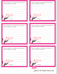 bridal shower words of wisdom free printable memory with the cards