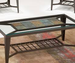 stone and glass coffee table tile cocktail table set unclaimed freight co