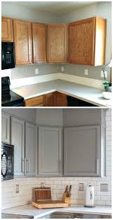 gray stained kitchen cabinets before and after kitchen before and after reveal builder grade kitchen